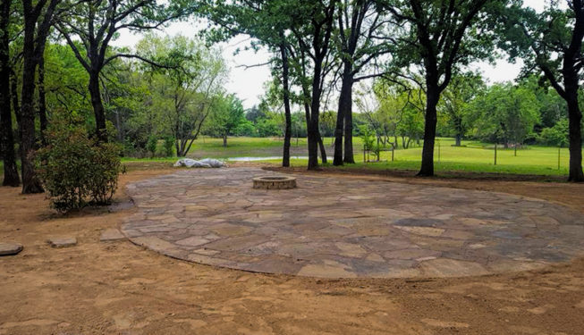 flagstone patio building