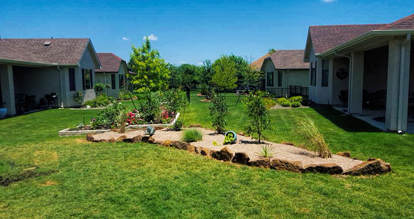 Sod + Flower Beds = Beautiful Yard